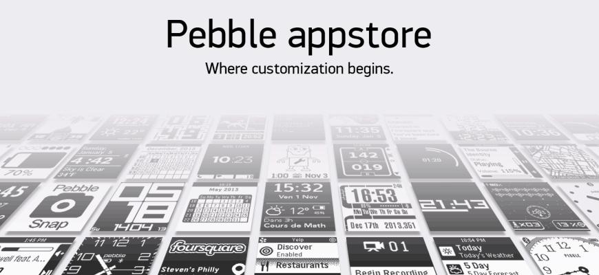 pebble watch app store