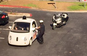 Google driverless car gets pulled over