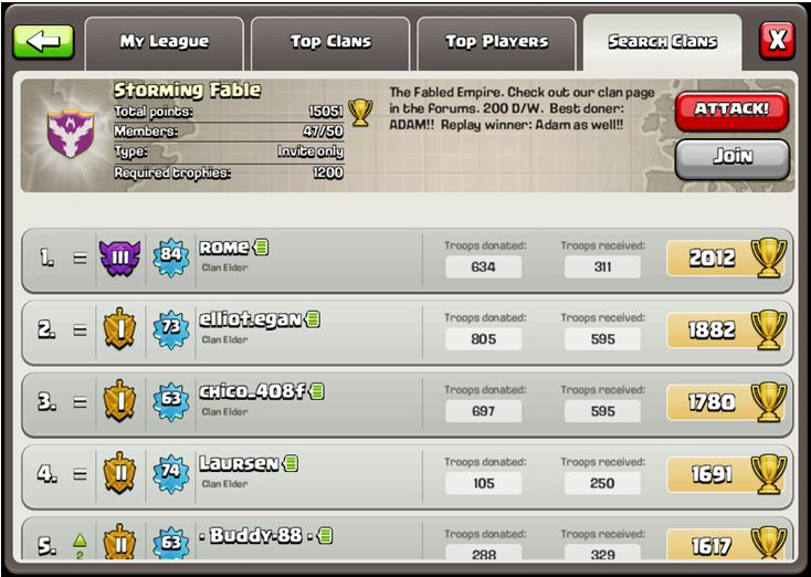 join clan clash of clans