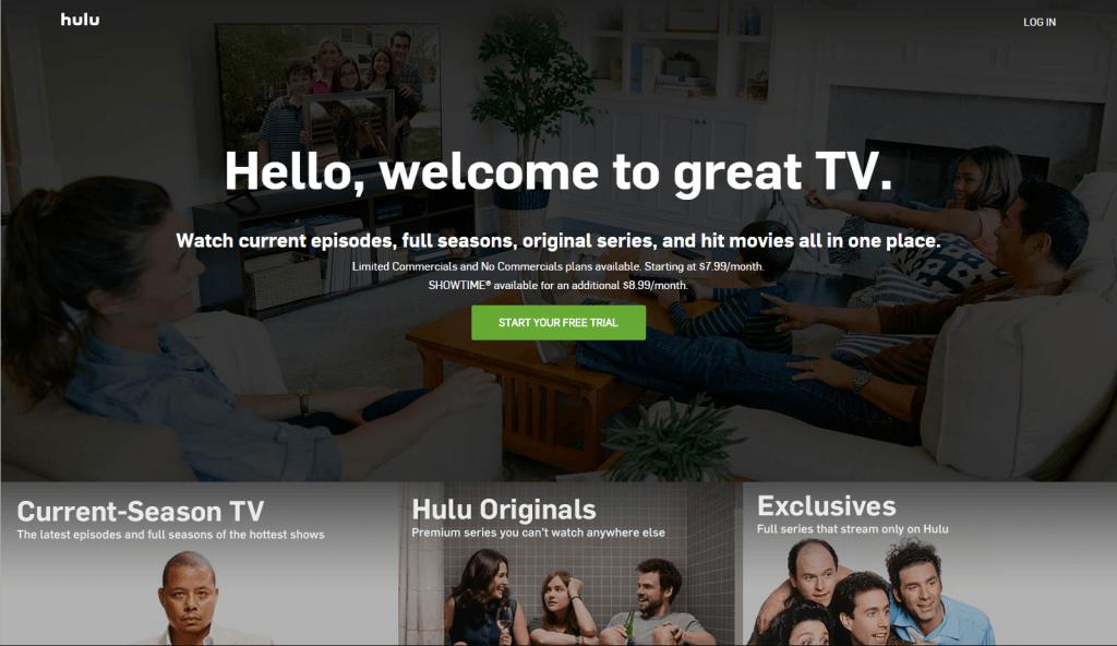 hulu - best free movies streaming site 2