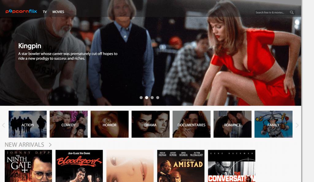 popcornflix - best free movies streaming sites 4