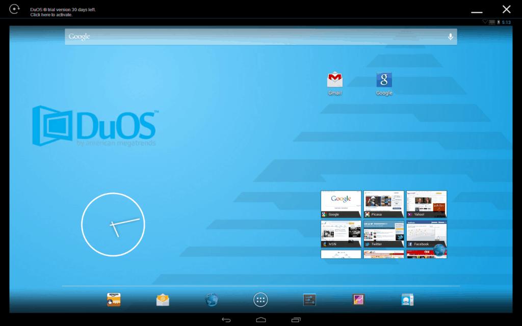 run Android apps on Windows PC - amiduos-emulator