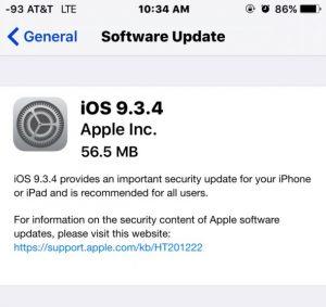 Apple Fixes iOS 9.3.3 Jailbreak with iOS 9.3.4 Release (IPSW Links)