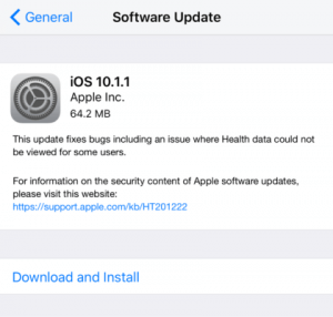 Apple Released iOS 10.1.1 Download for iPhone/iPad