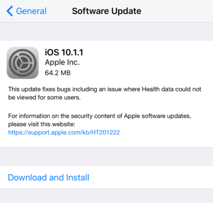 iOS 10.1.1 Download Links