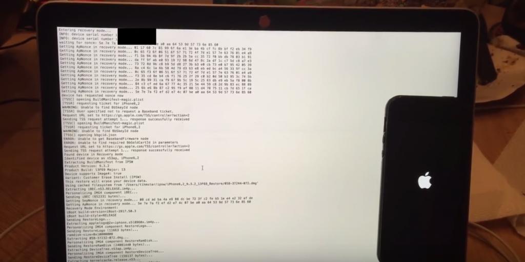 downgrade iOS firmware iPhone