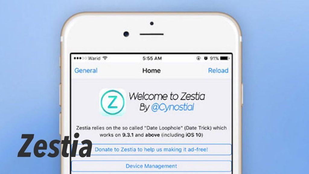 Install Zestia app